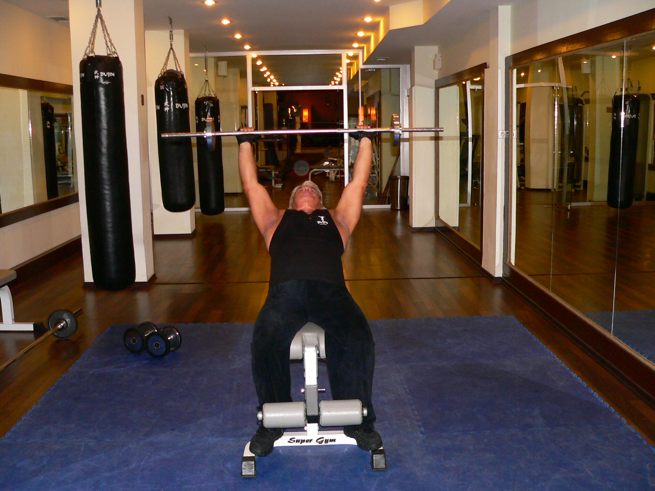 Incline Bench Barbell Press