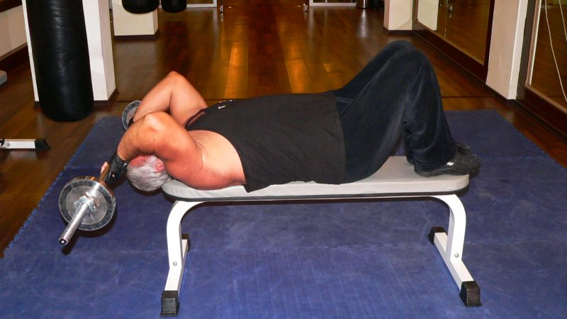Lying Barbell Triceps Press