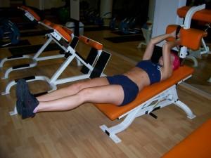 Incline Bench Leg Knee – Up