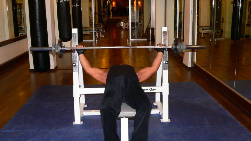 Barbell Bench Press – Wide Grip