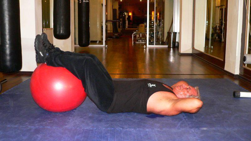 Crunch Legs On Exercise Ball