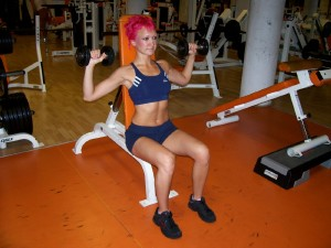 Seated Dumbbell Press – W