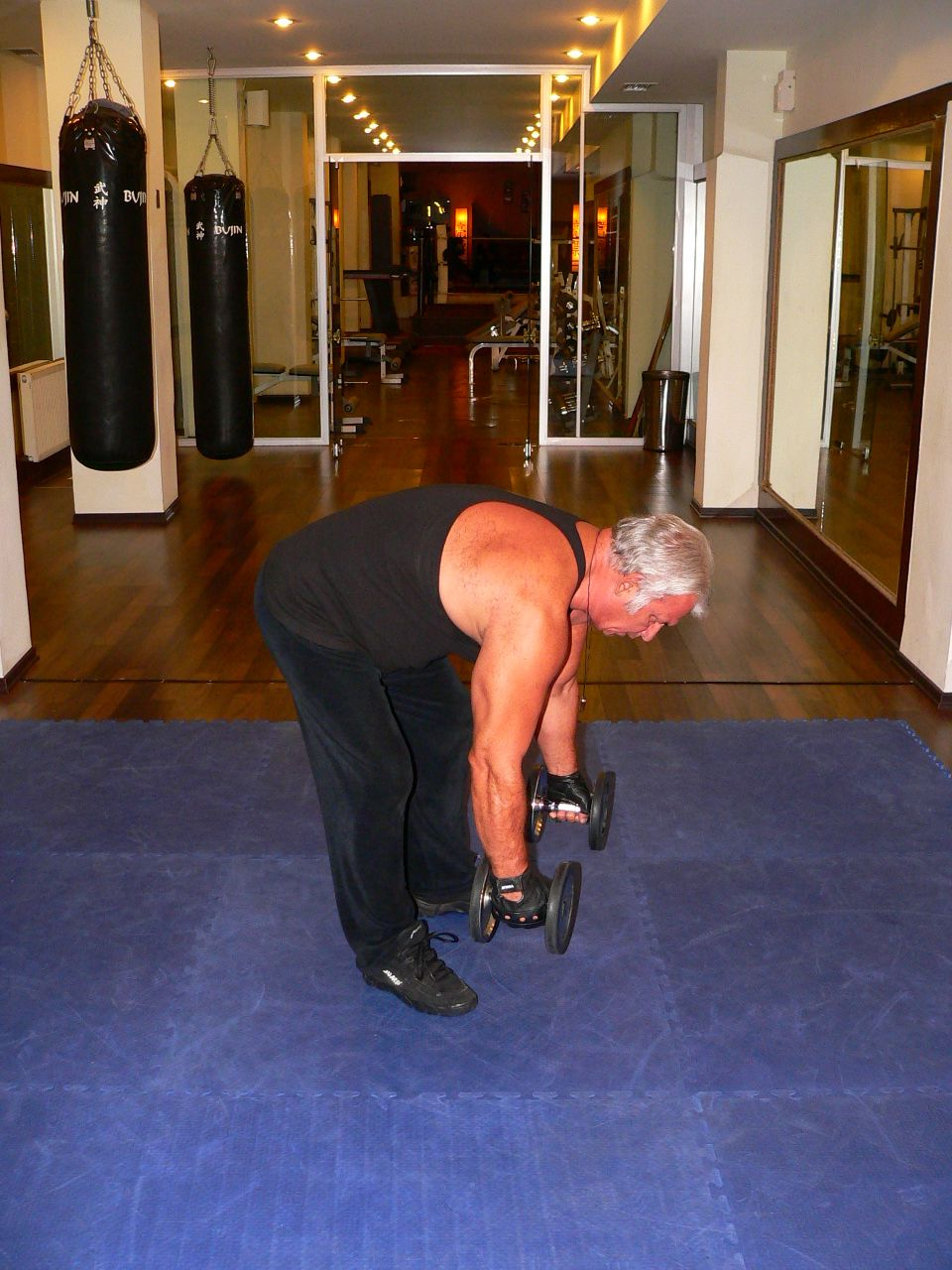 Bent Over Two Dumbbell Row – Hammer Grip