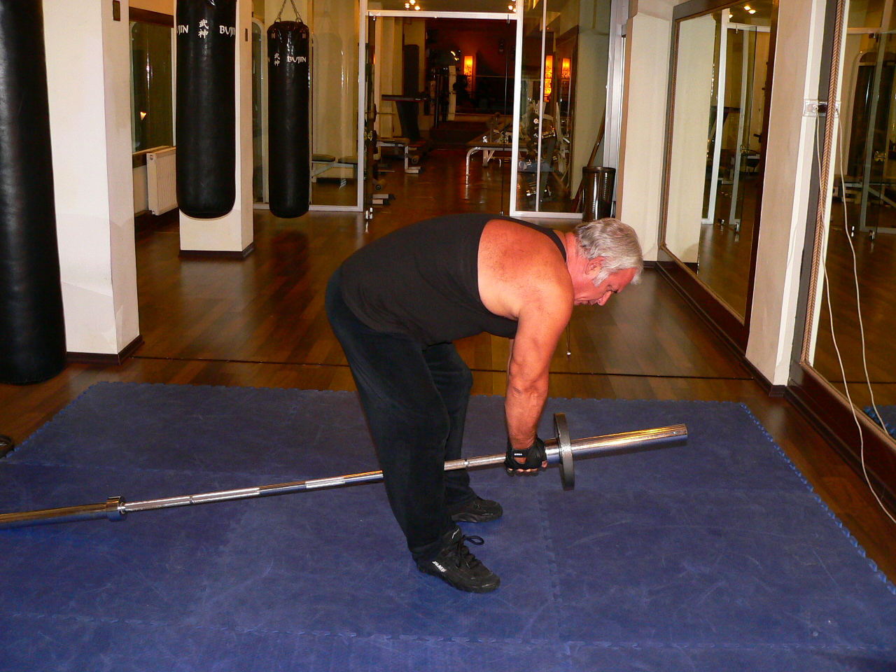 Bent Over Two Arm – Long Bar Row