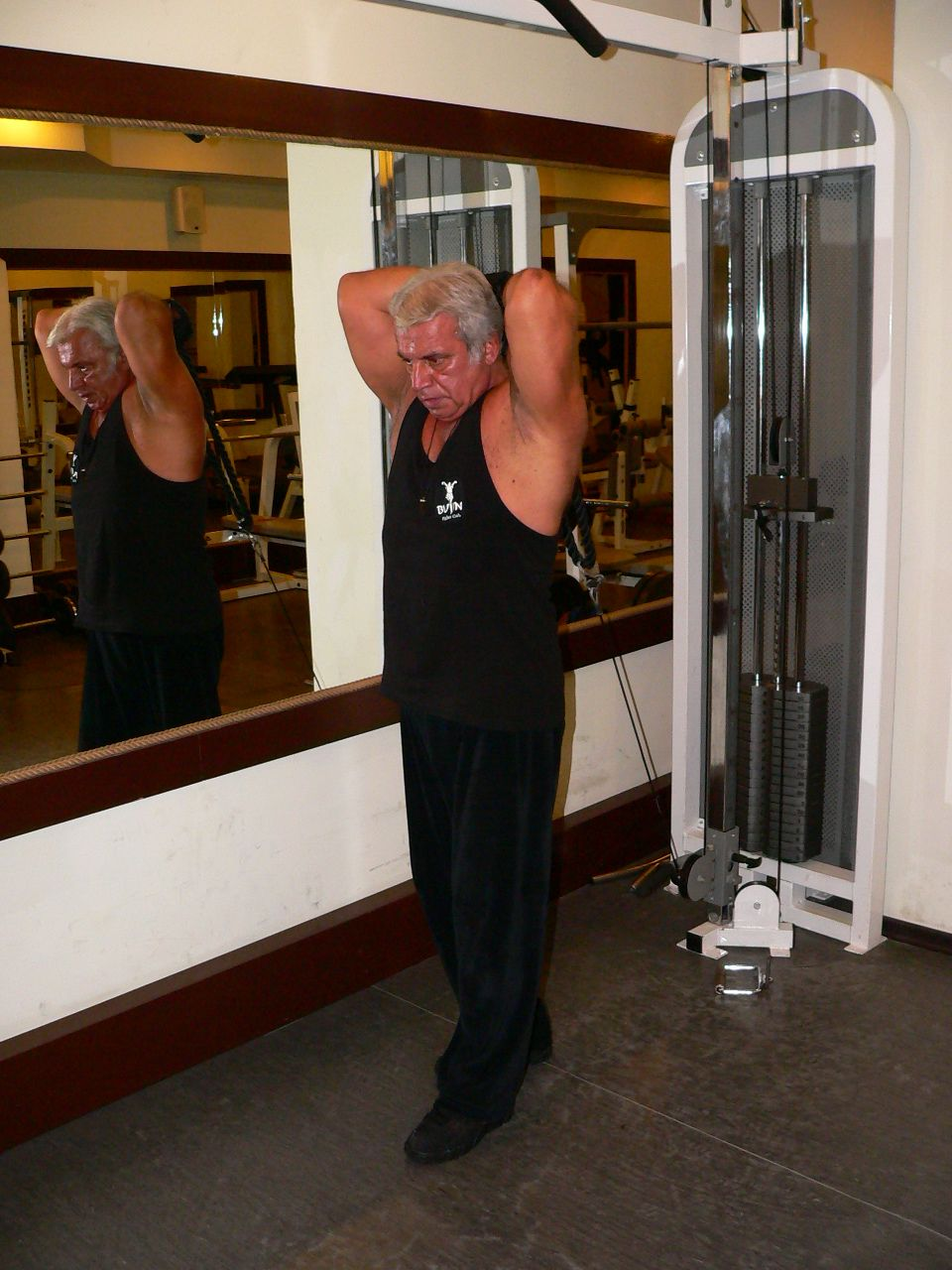 Overhead Rope Triceps Extension