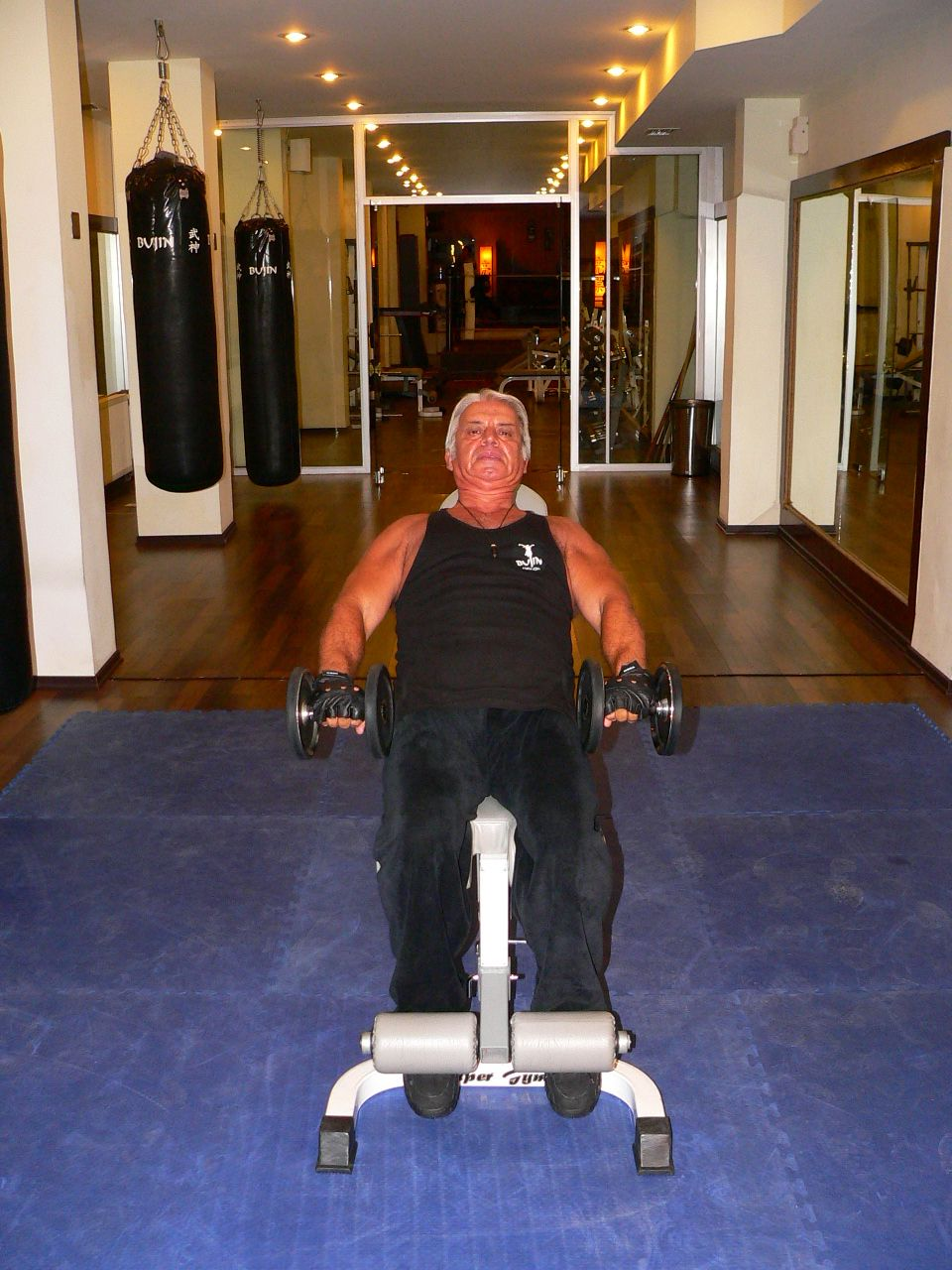 Incline Bench Dumbbell Front Raise