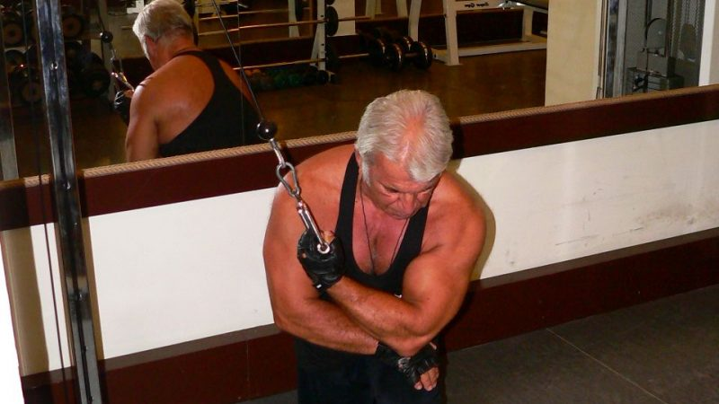 Kneeling Cable  Concentration Triceps Extension