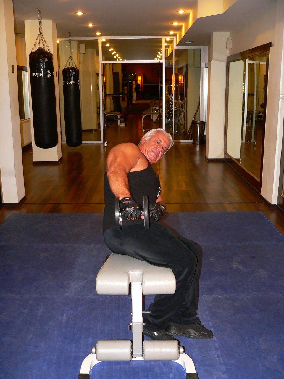 Incline Bench Dumbbell Side Lateral