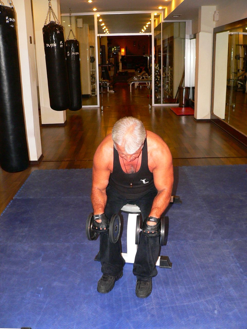 Seated Dumbbell Reverse Wrist Curl