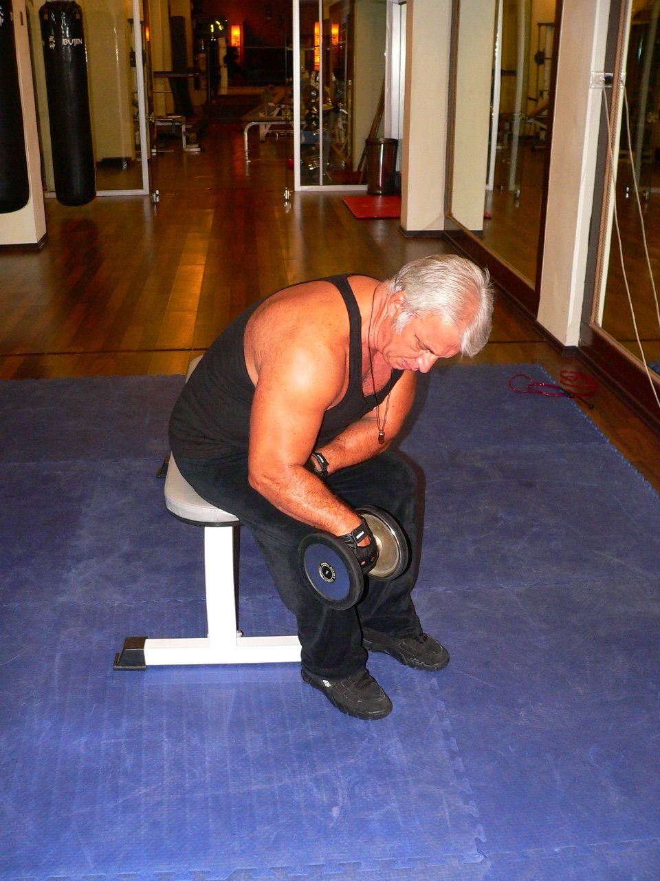 Seated One Arm Dumbbell Wrist Curl